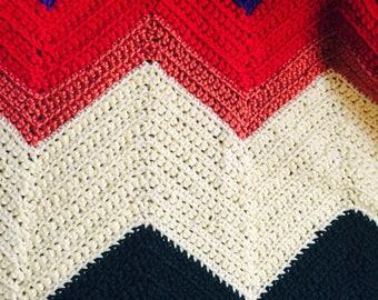 Custom Chevron style blanket