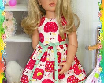 Doll dress for Hannah, Anna Gotz doll.