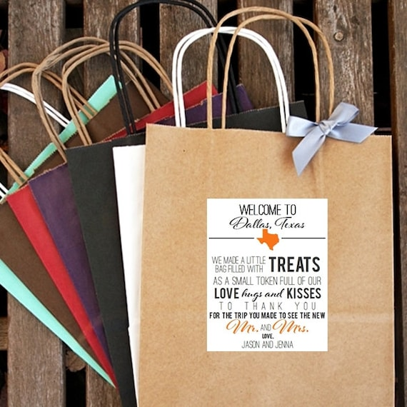 Unique Wedding Welcome Bag Ideas: Items Similar To Personalized Welcome To (City/State