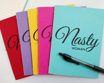 Nasty Woman Notebook – Lined Journal – Gifts for Women