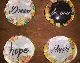 Inspirational Magnets - Happy Magnet - Hope Magnet - Gift Idea