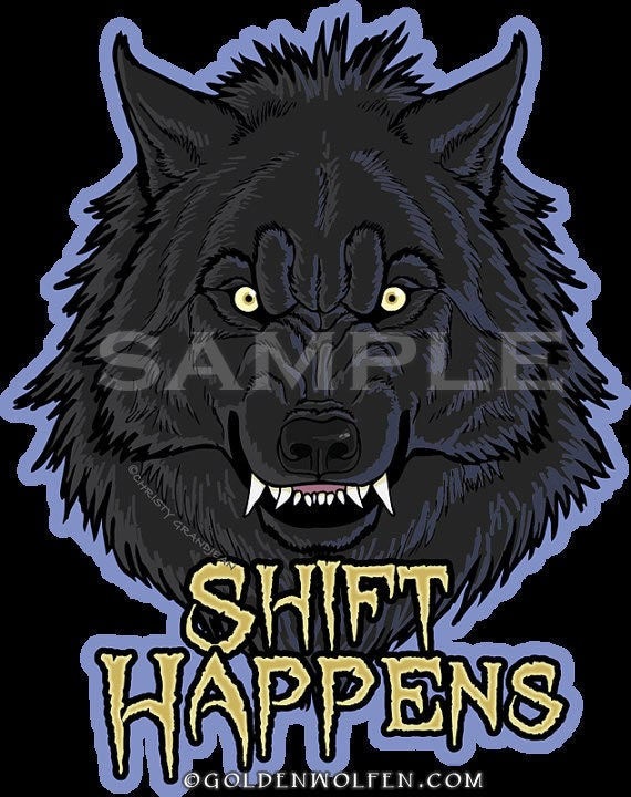 Shift happens werewolf sticker