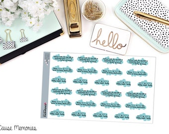 """MCM MANTRAS: """"Busy is Not a Badge of Honor"""" Paper Planner Stickers!"""