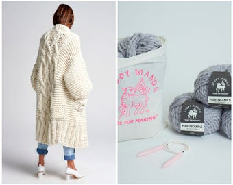 Loopy Mango DIY Kit - Rockstar Coat - Chunky Merino Wool