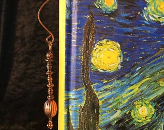 Copper Wire Bookmark Crafted Hand Hammered