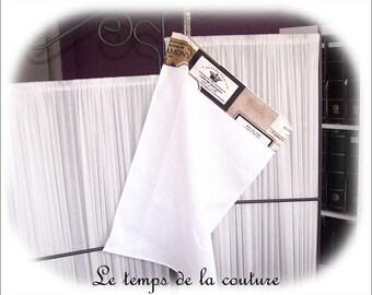 Hand towel - kitchen towel - shades of white, taupe and black - N 2 - handmade.