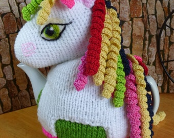 Unicorn /Rainbow Unicorn teapot cosy /  Novelty teapot cosy / Unicorn tea cozy