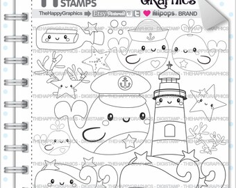 Whale Stamp 80OFF Commercial Use Digi Digital Image Summer Digistamp Coloring Page Nautical Graphic Marine