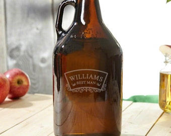 Timeless Wedding Engraved Beer Growler - Cool Gift for Groomsmen, Best Man, and Dad - Great Idea for All Beer Lovers, For Craft Beer, Water