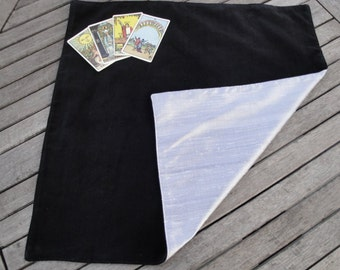 Tarot, Oracle, Rune Reading Cloth / Spread Cloth in Cotton Velvet lined with Dupion Silk - Made to order - choice of colours