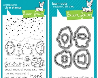 Lawn Fawn Snow Cool, Stamps, Dies