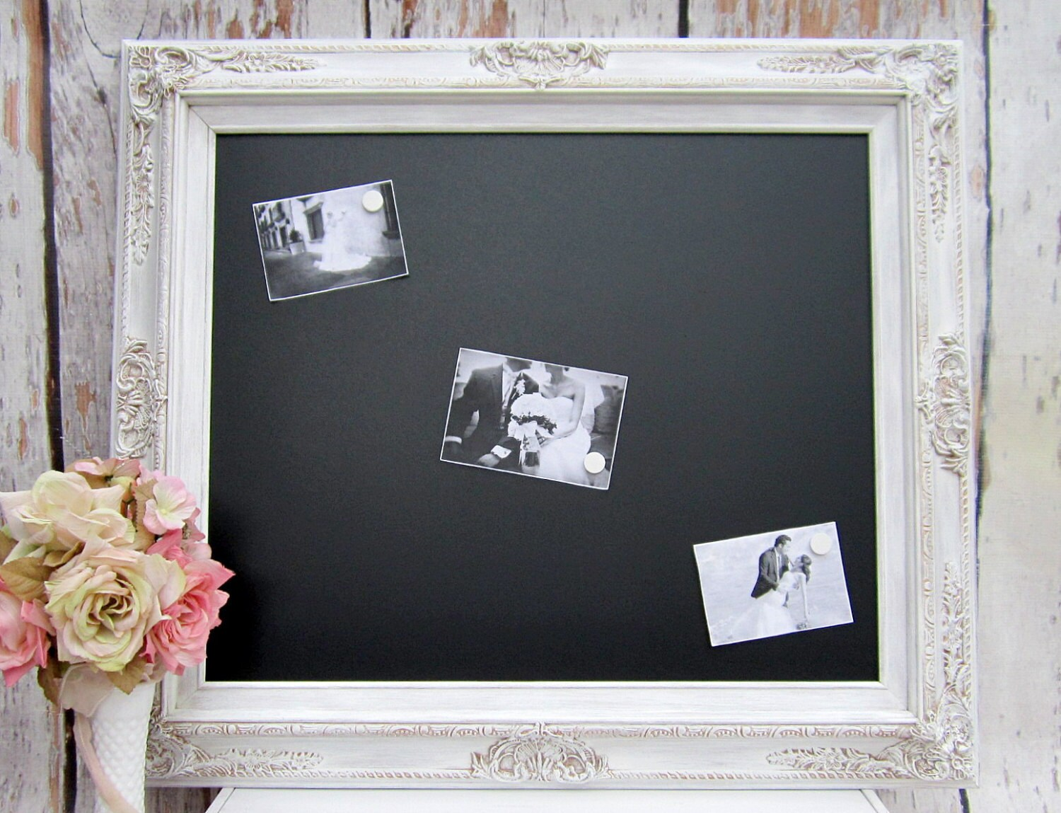 DEKORATIVE GERAHMTE CHALKBOARD Wedding Decor signiert
