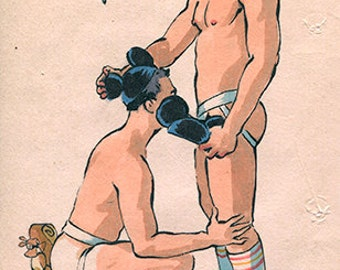 Mouse Ears - Fairy Tale Foreplay Sporty Jock Fantasy Fellatio Gay Disney Romance Felix d'Eon - Print