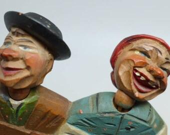 Vintage Anri Folk Art Hanging Key Holder - Wood Carving - Hand Carved ANRI Key Holder - Hand Carved Wood Figurine - ANRI