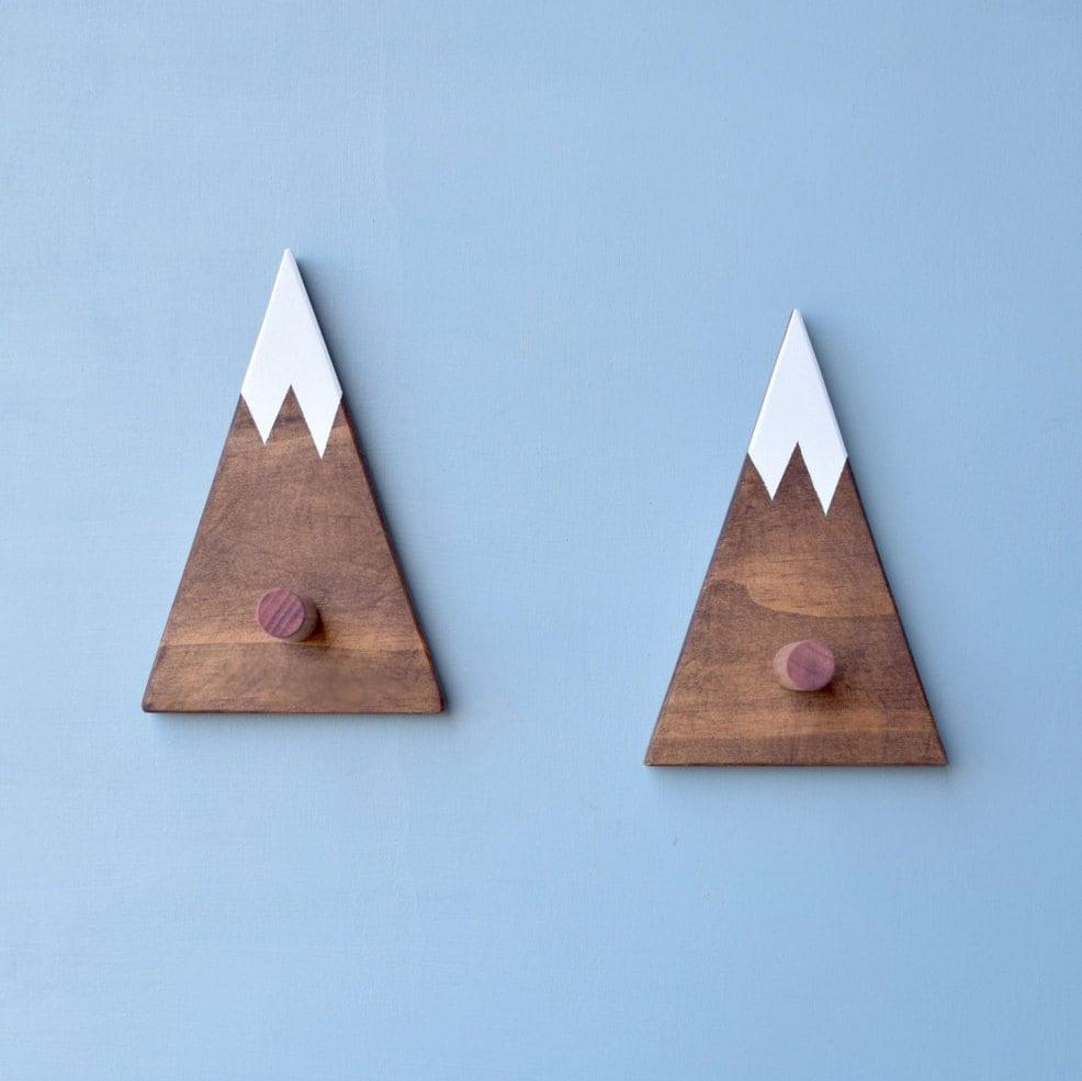 Wandhaken Sie Berg-Wandhaken für Kinder Holz Kleiderhaken