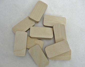 Unfinished Wooden dominoes set of 10