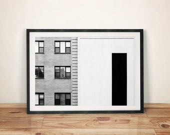 Building Abstract Art Poster Print