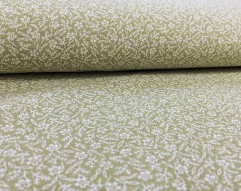 Vintage Country House Fabric 50 x 120 cm: Flowers mint Green