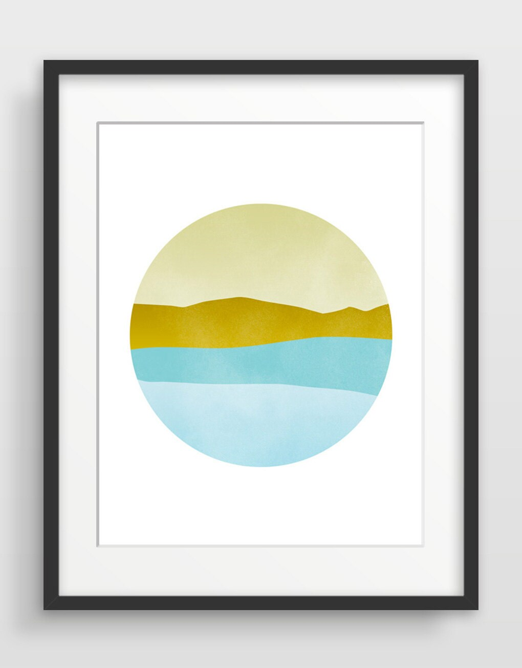 Large Abstract Landscape Wall Art Print Mid Century Wall Art