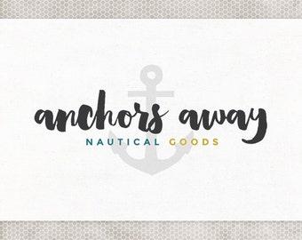 Premade Logo Design | Nautical Logo | Photography Logo | Minimalist Design | Anchor Logo | Navy and Gray | Mustard and Teal