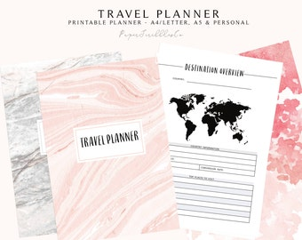 Travel Planner, Printable Vacation Planner, Trip Planner, Vacation Organizer, Holiday Planner, Travel Journal, Vacation Journal Printable
