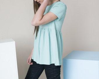Summer blouse   Cotton blouse   Mint blouse   LeMuse summer blouse