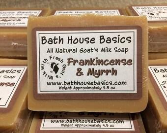 Frankincense & Myrrh Goat's Milk Soap