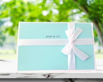 Bridal Shower | Themed Invitations | Aqua Blue | Baby shower | Breakfast at Tiffany's | Bridal Shower Invitations | Robin's Egg Blue