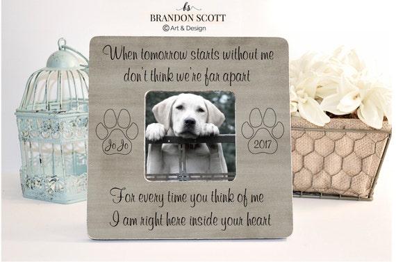 Pet Loss, Pet Memorial, Memorial Frame, Pet Memorial Frame, Cat Loss ...