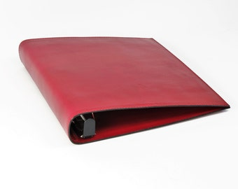 1 1/2 inch Leather 3 Ring Binder Notebook