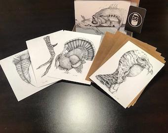 "Fine Art Print/Greeting Card gift set - 5"" x 7"" cards"