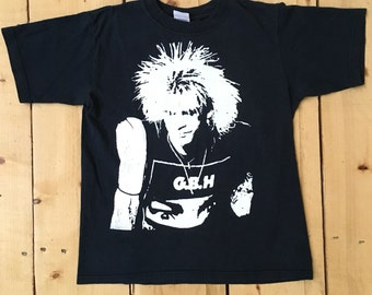 Vintage 80s 90s Charged GBH Punk Rock Band Concert T Shirt Crop Top - Small (Youth Large)
