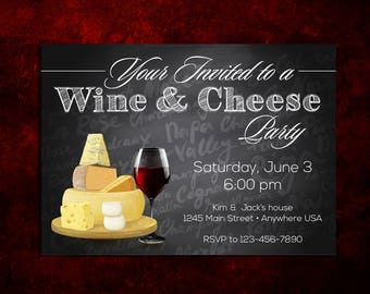 Wine and Cheese Party Invitation