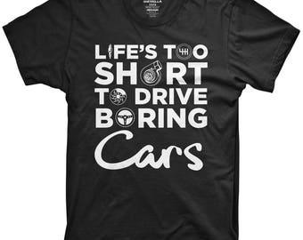 Life's too short to drive boring cars shirt car tshirt jdm apparel car mechanic tshirt jdm gear funny gift for car enthusiast