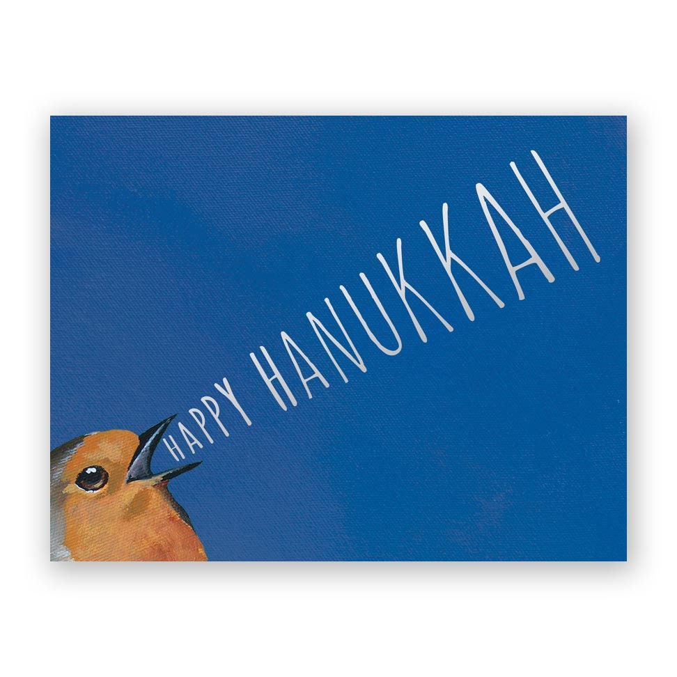 Bird Yelling Happy Hanukkah Birds Greeting Stationery