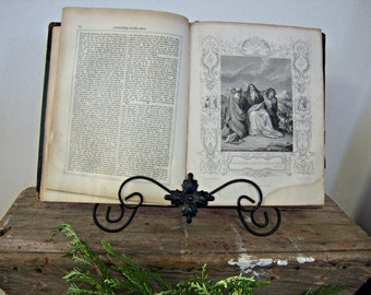 The Genuine Works of Flavius Josephus Hardcover 1700's Spiritual Guidance Home Decor