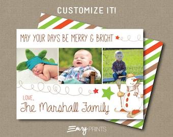 Christmas Photo Card Holiday Photo Card Christmas Card Printable or Printed