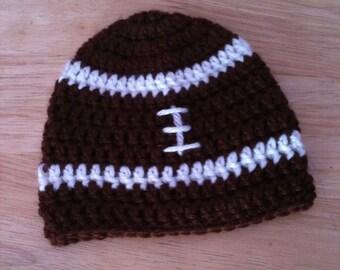 Crochet Football Baby Hat, baby photo prop