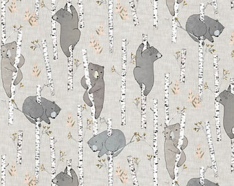 Crib Sheet Birch Bears. Fitted Crib Sheet. Baby Bedding. Crib Bedding. Minky Crib Sheet. Crib Sheets. Bear Crib Sheet.
