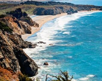 Big Sur Photography Print Coastline Pacific Coast California Landscape Fine Art Photograph Wall Art Decor  Also Available on Canvas or Metal