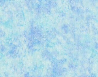 Blank SPLASH Quilt Fabric By The 1/2 Yard - Ice Watercolor 3504 ICE