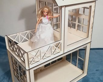 Barbie Wooden Dollhouse Plywood Model Kit For Big Dolls Type A