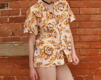 Short Sleeve Vintage 1960s Summer Shirt