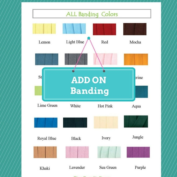 ADD ON a  Banding to a purchased blanket