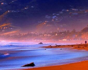 Zuma Beach at Sundown by Catherine Roché, California Beaches Photography, Malibu Coastline Photography, Beach Sunset Photography, Fine Art