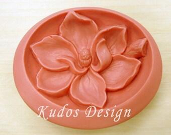 FL059 Magnolia Soap Mold, soap mold, silicone soap mold (Kudos Design, Kudo Soap) Taiwan