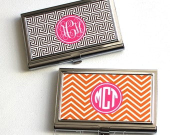 Business Card Case - Monogram Business Card Holder - Personalized card holder - Personalized Gift -  Coworker gift - Custom Card Holder