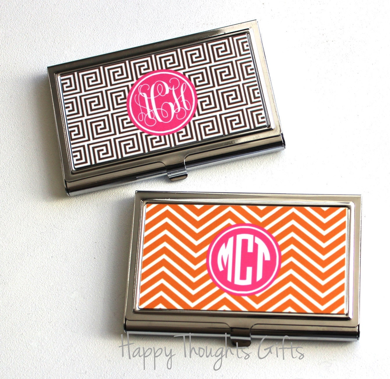 Business Card Case Monogram Business Card Holder