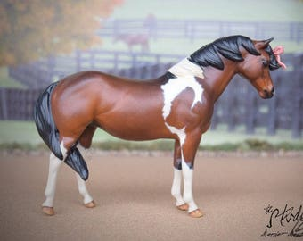 Custom/CM Breyer Model Horse - Love Classic QH Mare To Bow-begetted Pony