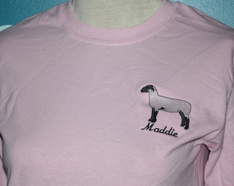 Custom lamb t-shirt - Livestock lamb show awards t-shirt - customized show award